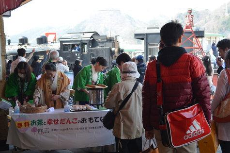 今日の鬼怒川温泉駅前(4/1)